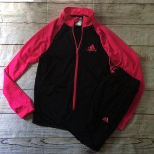 Adidas Girls 13-14Y Track Jacket Pants Suit Set